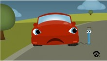 a car with four flat tires acpa