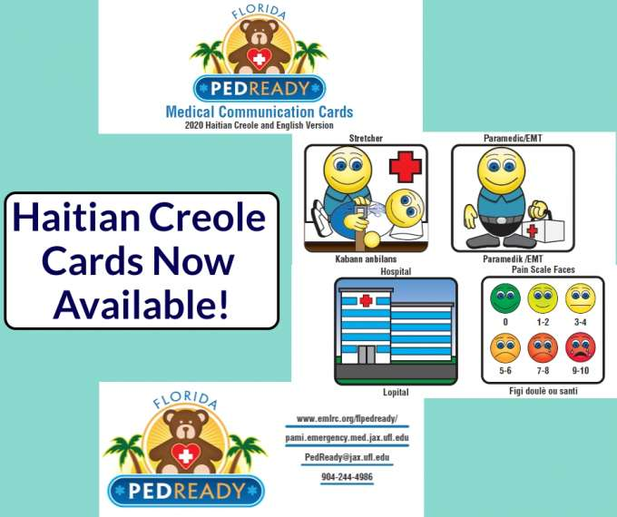 Haitian creole communication cards screen grab